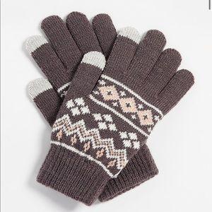 5/$25 fair isle tech finger knit glove